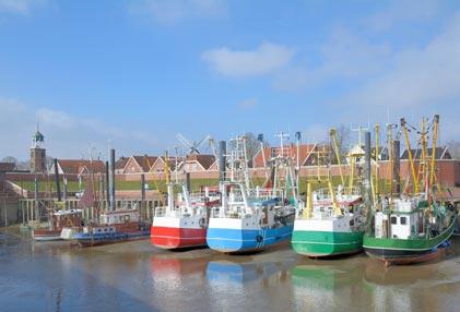 Das Fischerdorf Ditzum in Ostfriesland